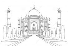 Taj Mahal Colouring Pages
