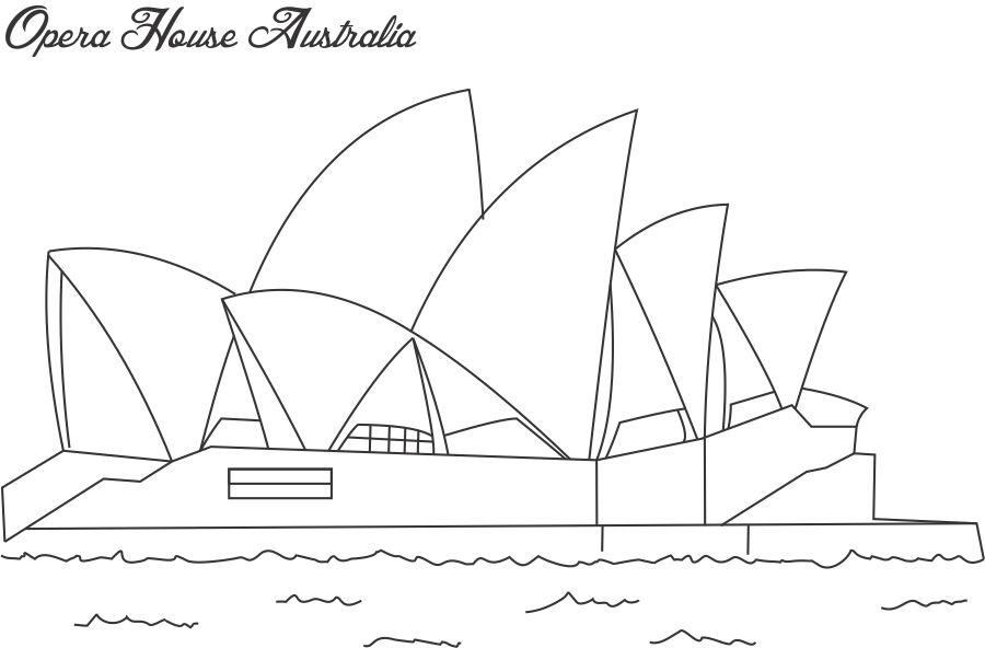 About Sydney Opera House Colouring Page