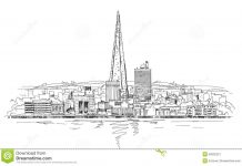 The Shard Colouring Page