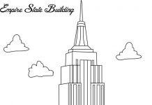 Empire StateBuilding Colouring Page