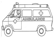 Awesome Ambulance Colouring Pages