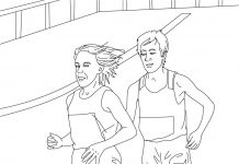 Athletics Colouring Pages