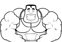Body Builder Colouring Pages