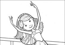 Dancer Colouring Pages