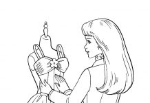Fashion Designer Colouring Pages