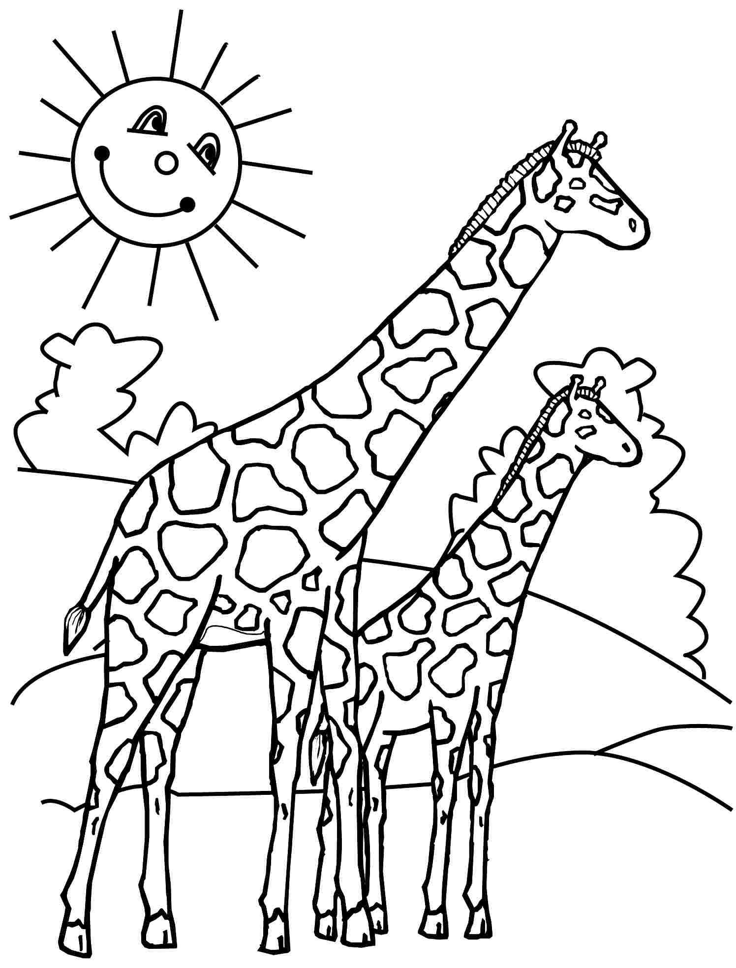 Tallest Giraffe Colouring Pages