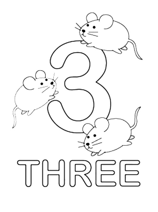 Number Three : Learning to Write Simple Handwriting Number ...