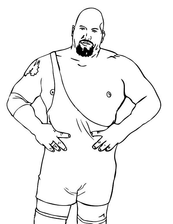 Professional Wrestling Athlete Colouring Pages