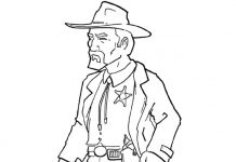 Sheriff Colouring Pages