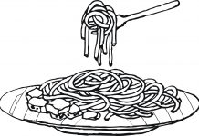 Spaghetti Colouring Pages