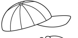 Baseball Cap Colouring Pages