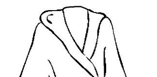 Bath Robe Colouring Pages