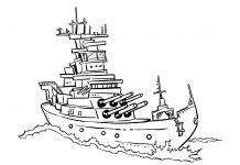 Battleship Colouring Pages