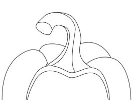Bell Pepper Colouring Pages