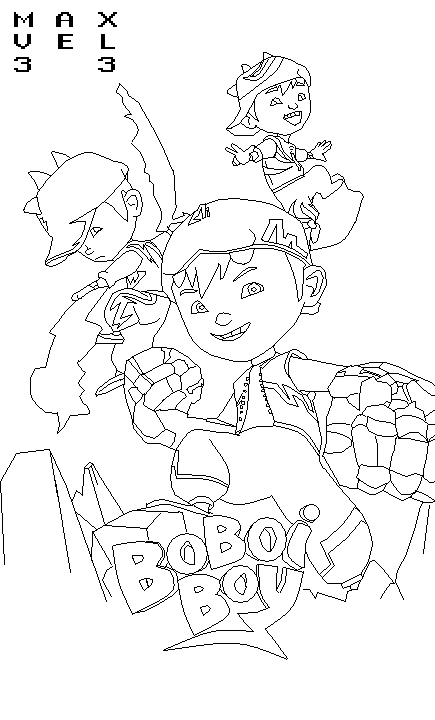 BoBoiBoy Colouring Pages