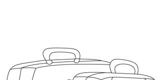 Cabin Bag Colouring Pages