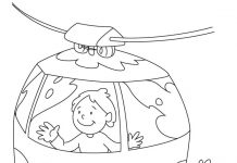 Cable Car Colouring Pages