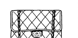 Clutch Purse Coloring Pages