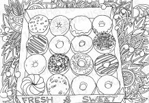 Donuts Colouring Pages