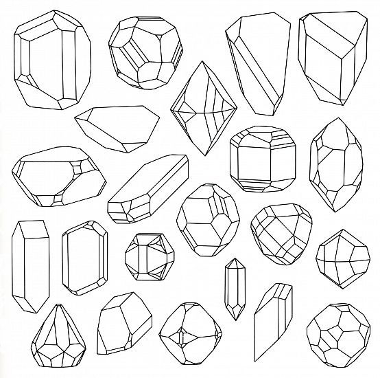 Gemstones Colouring Pages