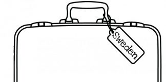 Hand Luggage Colouring Pages