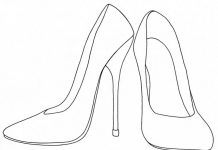 Heel Colouring Pages