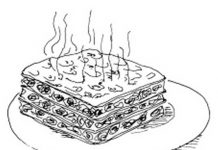 Lasagna Colouring Pages