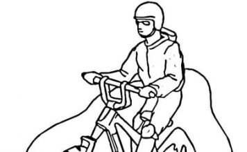Mountain Bike Coloring Pages