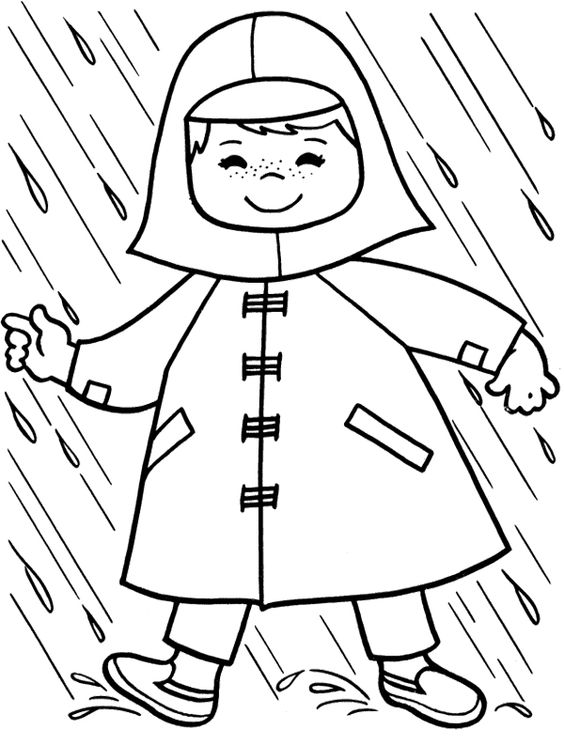 cute rain coat for outer garment colouring pages picolour. Black Bedroom Furniture Sets. Home Design Ideas