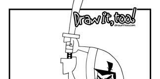 Samurai Jack Colouring Pages