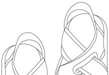 Sandals Colouring Pages