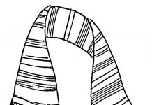 Scarf Colouring Pages