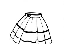 Skirt for Women Colouring Pages
