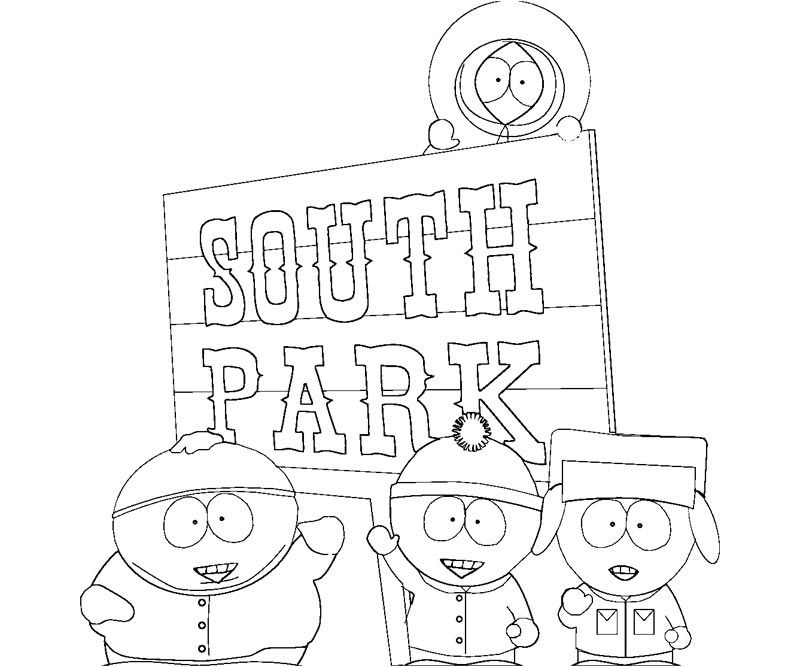 South Park Colouring Pages
