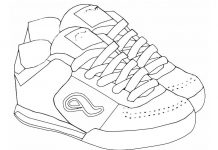 Training Shoes Colouring Pages