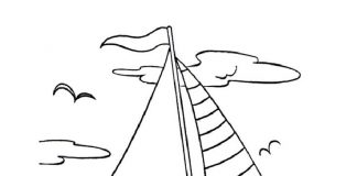 Yacht Colouring Pages